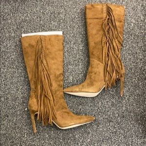 Sam Edelman Fringe Boots NEW with box